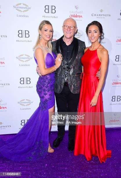 Modesta Vzesniauskaite, John Cauldwell and Emily MacDonagh attending the Butterfly Ball Charity fundraiser held at the Grosvenor House Hotel London.