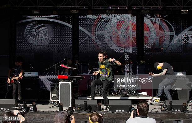 Modestep performs during the 2012 Voodoo Experience at City Park on October 28 2012 in New Orleans Louisiana
