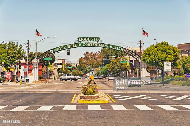 Modesto Arch welcomes visitors to this City