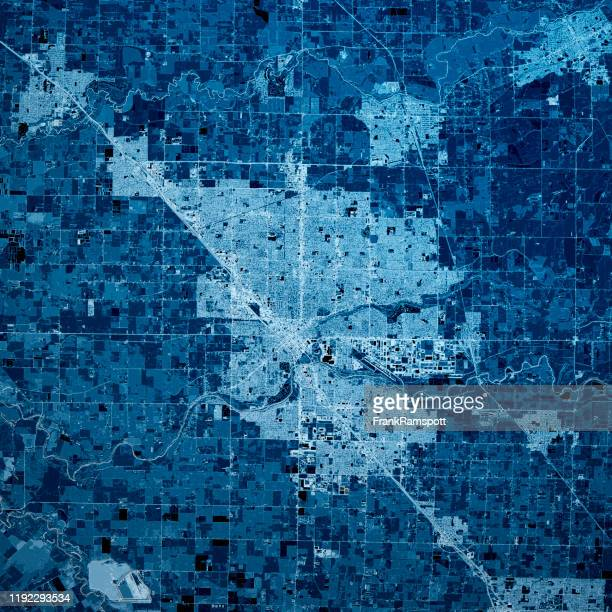 modesto california 3d render map blue top view nov 2019 - frankramspott stock pictures, royalty-free photos & images
