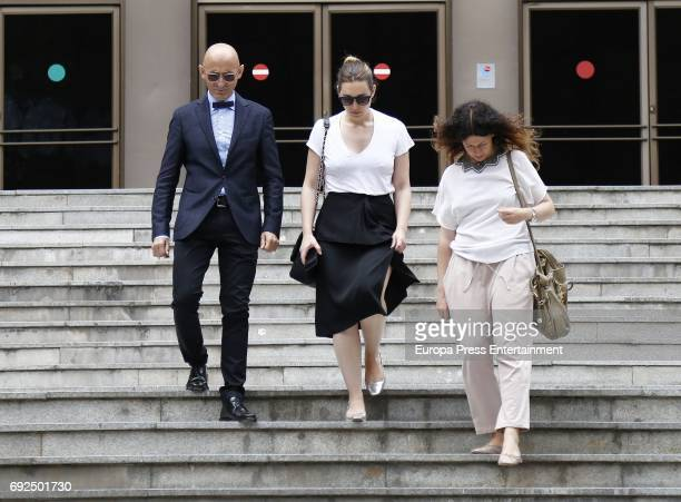 Modesto Lomba attends the funeral chapel for the fashion designer David Delfin at Dress Museum on June 4 2017 in Madrid Spain