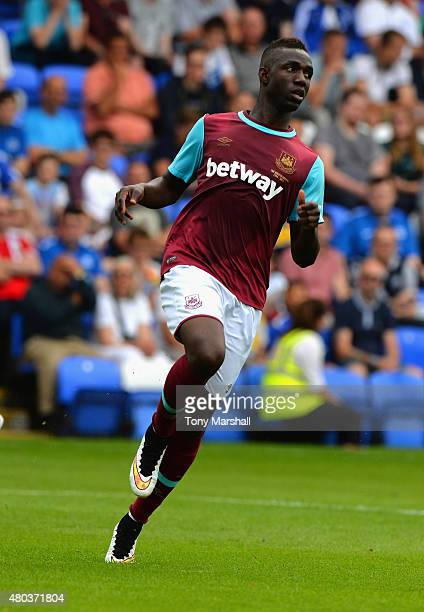 Modibo Maiga of West Ham United during the Pre Season Friendly match between Peterborough United and West Ham United at London Road Stadium on July...