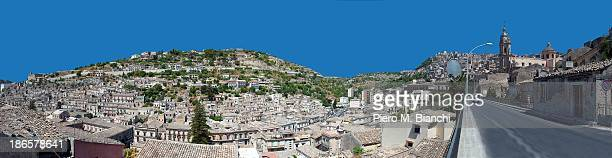 Modica, the upper town and lower town