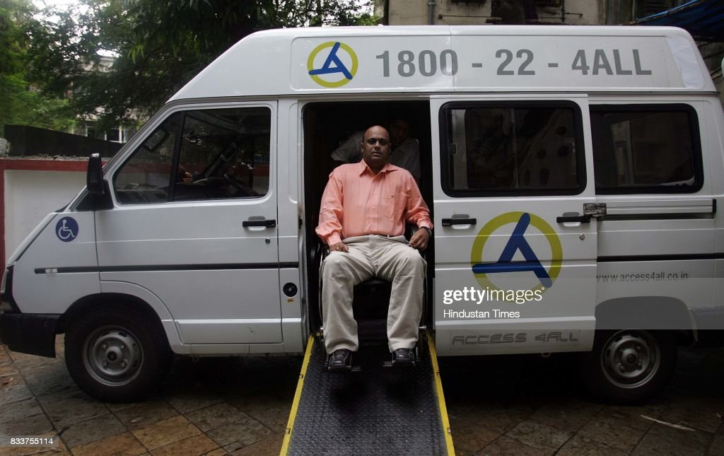 Modified Tata Winger car for disabled people.