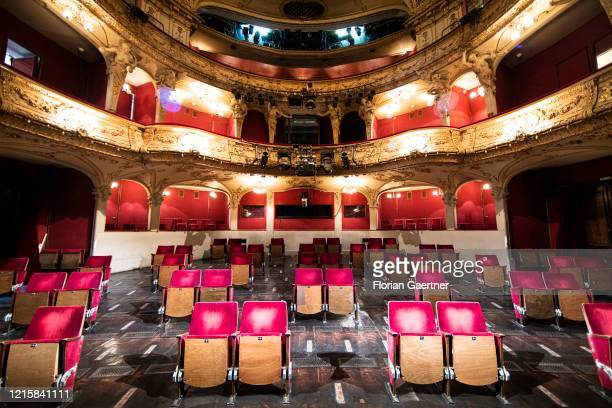 Modified tiers of the theatre 'Berliner Ensemble' are pictured on May 28, 2020 in Berlin, Germany. Because of the corona crisis theaters, cinemas and...
