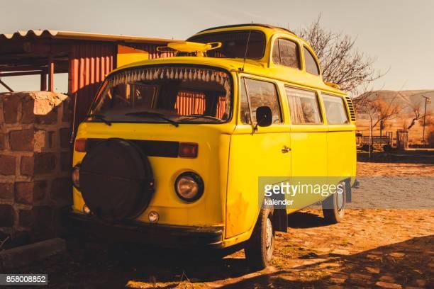 Modifizierte gelben VW-Bus