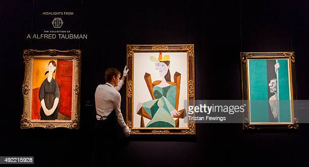 Modigliani's Portrait de Paulette Jourdain Picasso's Femme assise sur une chaise and Bacon's Man with Arm Raised from the collection of A Alfred...