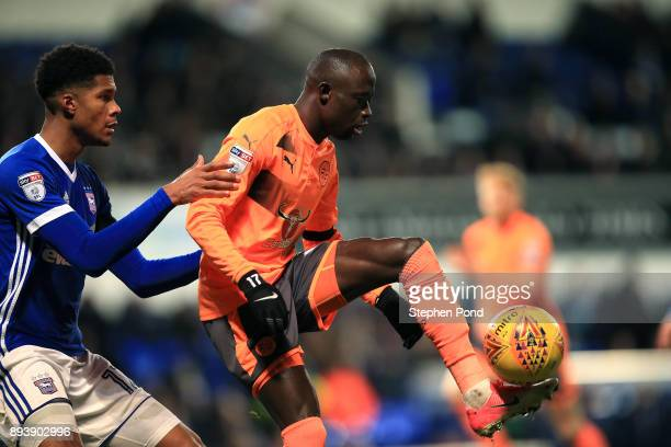 Modou Barrow of Reading and Jordan Spence of Ipswich Town compete for the ball during the Sky Bet Championship match between Ipswich Town and Reading...