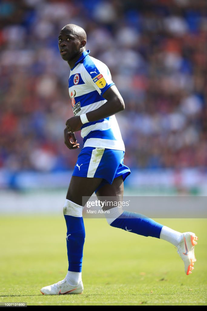 Modou Barrow of Reading during the Pre-Season Friendly between Reading and Crystal Palace at Madejski Stadium on July 28, 2018 in Reading, England.