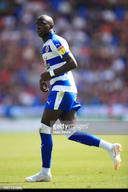 Modou Barrow of Reading during the PreSeason Friendly between Reading and Crystal Palace at Madejski Stadium on July 28 2018 in Reading England