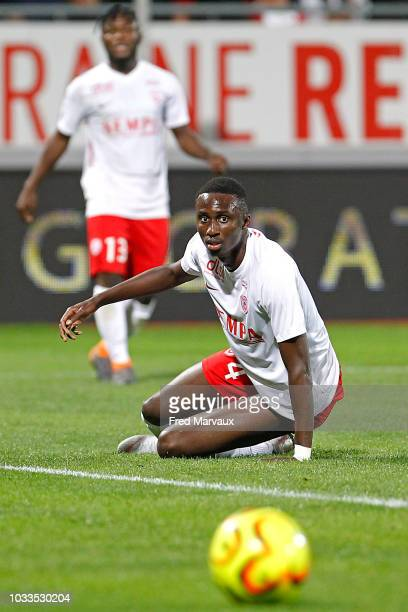 Modou Diagne of Nancy during the French Ligue 2 match between Nancy and Le Havre on September 14 2018 in Nancy France