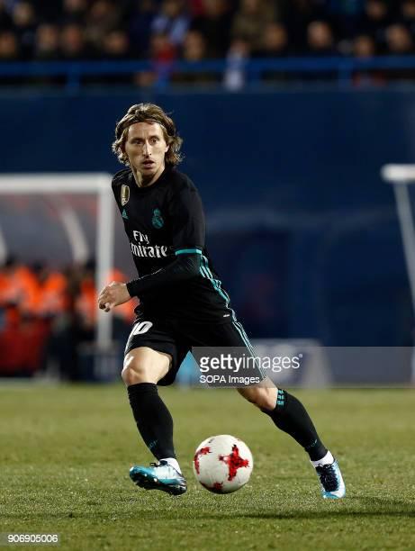 STADIUM LEGANéS MADRID SPAIN Modric during the match Jan 2018 Leganés and Real Madrid CF at Butarque Stadium Copa del Rey Quarter Final First Leg...