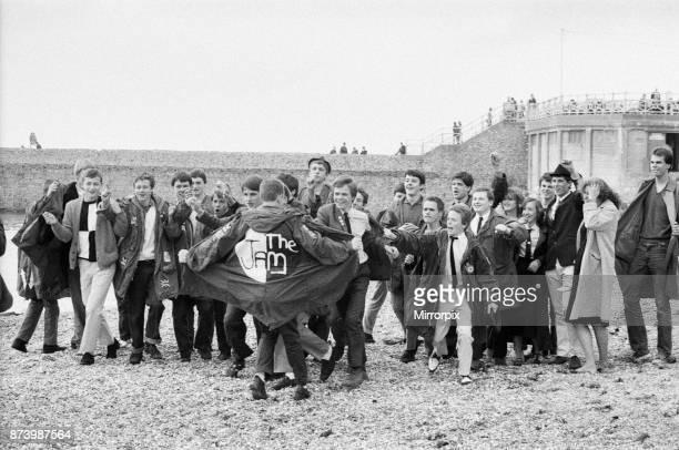 Mods on Brighton Beach 27th August 1979