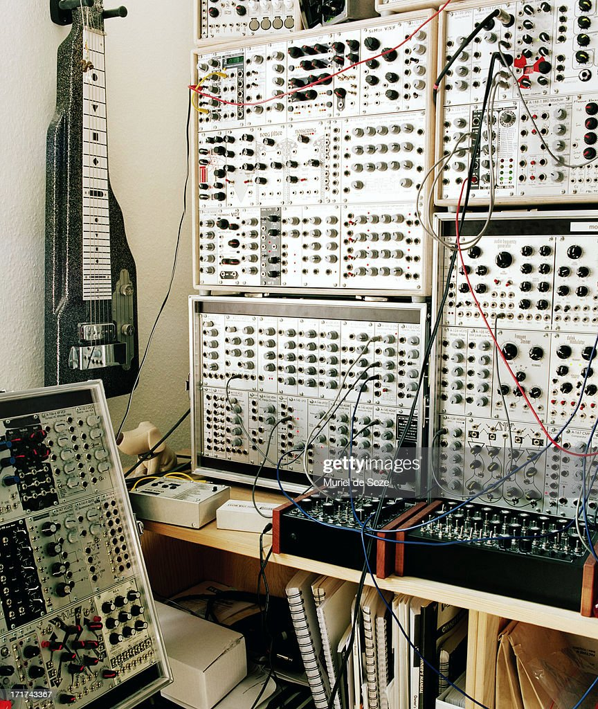 modular synthesizer in music studio high res stock photo getty images. Black Bedroom Furniture Sets. Home Design Ideas