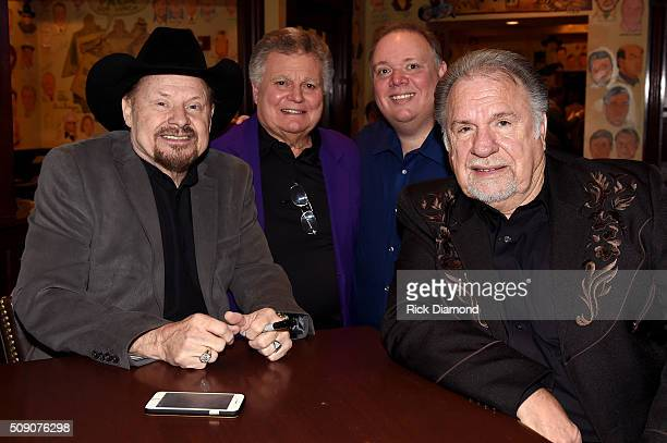 Moe Bandy Leroy Van Dyke owner of Webster PR Kirt Webster and Gene Watson attend the 2nd Annual Legendary Lunch presented by Webster Public Relations...