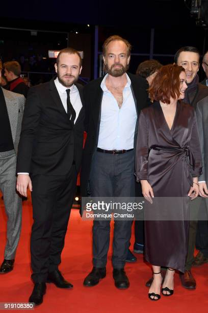 Moe Dunford Hugo Weaving Sarah Greene and Lance Daly attend the 'Black 47' premiere during the 68th Berlinale International Film Festival Berlin at...