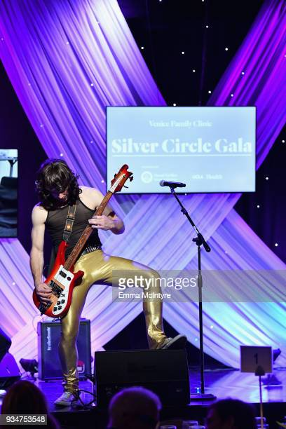 Moe Lato of The Wayward Sons performs on stage during the Venice Family Clinic Silver Circle Gala at The Beverly Hilton Hotel on March 19 2018 in...