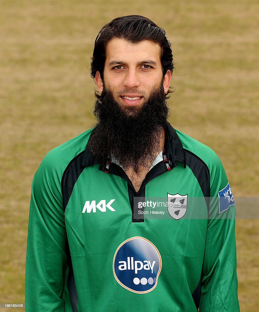 Moeen Ali during a Photocall for Worcestershire County Cricket Club on April 9, 2013 in Worcester, England.