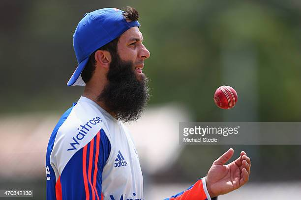 Moeen Ali during the England nets session at the National Cricket Ground Stadium in St George on April 19 2015 in Grenada Grenada