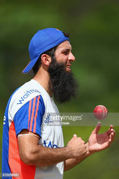 Moeen Ali during the England nets session at the National Cricket Ground Stadium in St George on April 20 2015 in Grenada Grenada