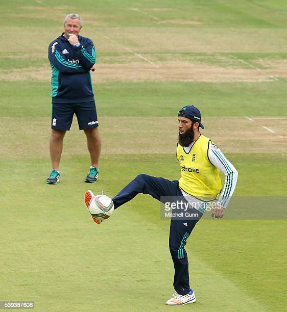 Moeen Ali of England day three of the 3rd Investec Test match between England and Sri Lanka at Lords Cricket Ground on June 11 2016 in London United...