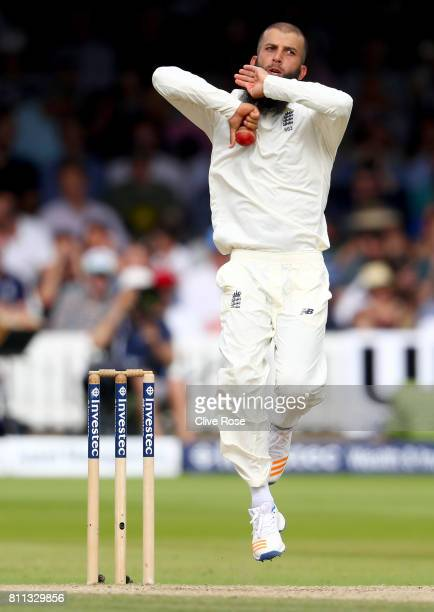 Moeen Ali of England in action on day four of the 1st Investec Test match between England and South Africa at Lord's Cricket Ground on July 9 2017 in...