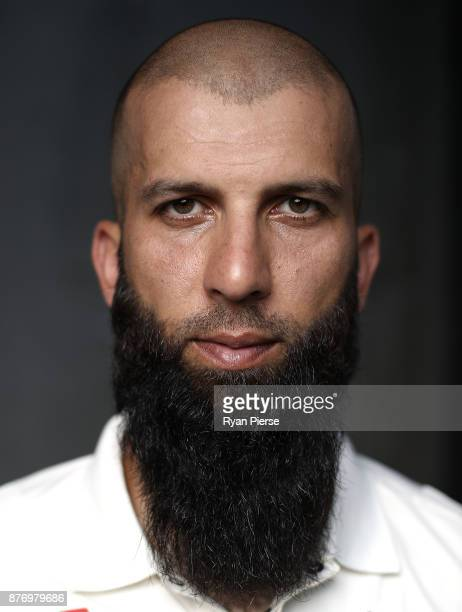 Moeen Ali of England poses during a portrait session at The Gabba on November 21 2017 in Brisbane Australia