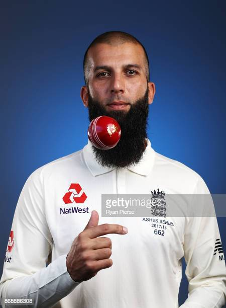 Moeen Ali of England poses during the 2017/18 England Ashes Squad portrait session at the WACA on November 1 2017 in Perth Australia