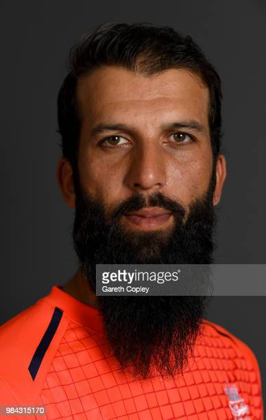 Moeen Ali of England poses for a portrait at Edgbaston on June 26, 2018 in Birmingham, England.