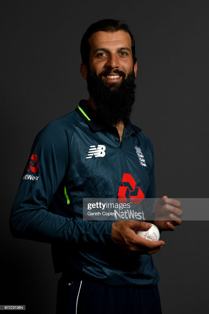 Moeen Ali of England poses for a portrait at The Kia Oval on June 12, 2018 in London, England.