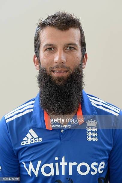 Moeen Ali of England poses for a portrait at Zayed Cricket Stadium on November 10 2015 in Abu Dhabi United Arab Emirates