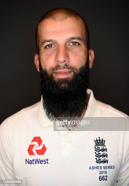 Moeen Ali of England poses for a portrait on July 22, 2019 in London, England.