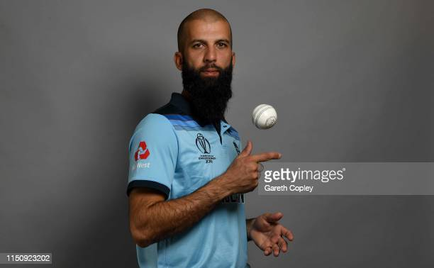 Moeen Ali of England poses for a portrait on May 13 2019 in Bristol England