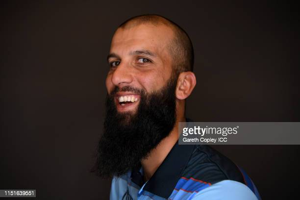 Moeen Ali of England poses for a portrait prior to the ICC Cricket World Cup 2019 at Ageas Bowl on May 24 2019 in Southampton England