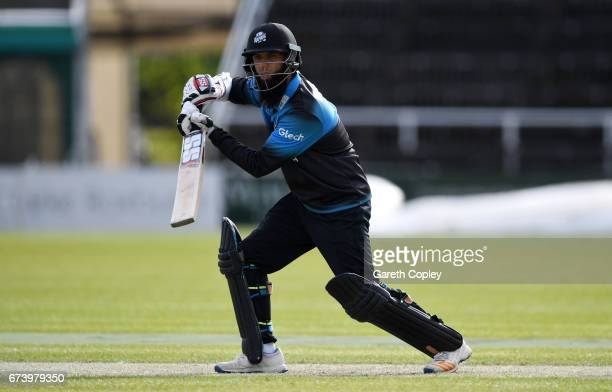 Moeen Ali of Worcestershire bats during the Royal London OneDay Cup match between Worcestershire and Nottinghamshire at New Road on April 27 2017 in...