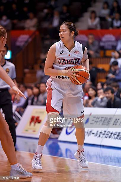 Moeko Nagaoka of Japan in action during the Women's Basketball International Friendly match between Japan and Australia at Yoyogi National Gymnasium...