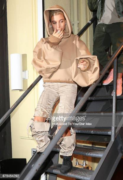 Moel Hailey Baldwin is seen on April 30 2017 in New York City