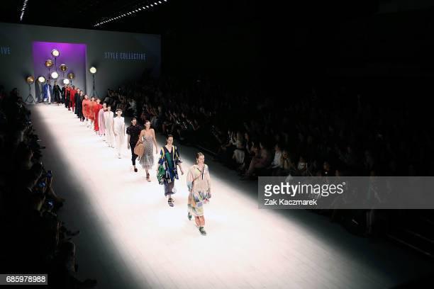 Moels walk the runway during MercedesBenz Fashion Week Weekend Edition at Carriageworks on May 20 2017 in Sydney Australia