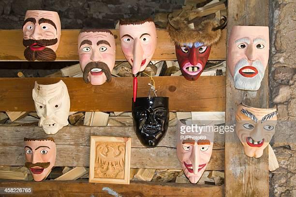 Moena (Dolomites) - Group of wooden masks