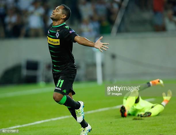 Moenchengladbach Germany Champions League Qualifikation Rueckspiel Borussia Moenchengladbach Young Boys Bern Torjubel Raffael nach dem Treffer zum 20...