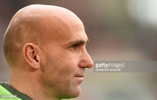 Moenchengladbach's headcoach Andre Schubert pictured prior the German first division Bundesliga football match of FC Augsburg vs Borussia...