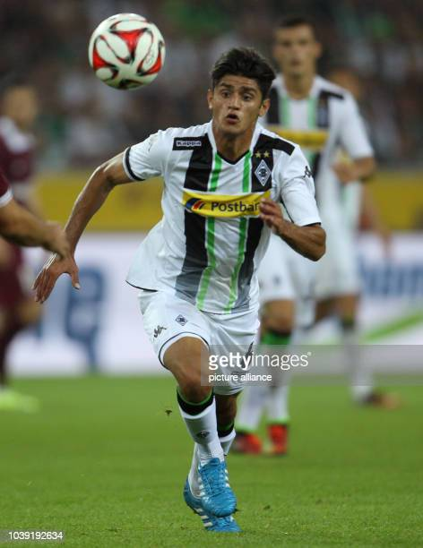 Moenchengladbach's Mahmoud Dahoud vies for the ball during the Europa League qualification match between Borussia Moenchengladbach and FK Sarajevo at...