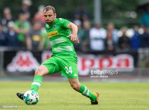 Moenchengladbach's Tony Jantschke in action during the international soccer friendly match between Borussia Moenchengladbach and OGCNice in...