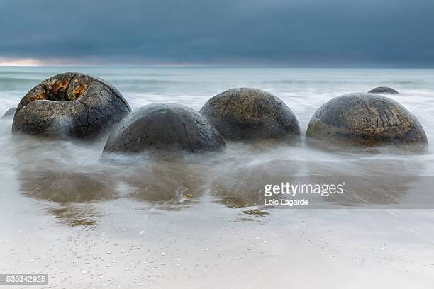 Moeraki Boulders at dusk