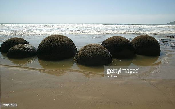 Moeraki BouldersKoekohe BeachOtago on December 292004 in New Zealand