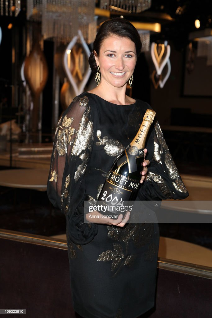 Moet & Chandon's Julia Fitzroy attends the 70th Annual Golden Globe Awards preview day at The Beverly Hilton Hotel on January 11, 2013 in Beverly Hills, California.