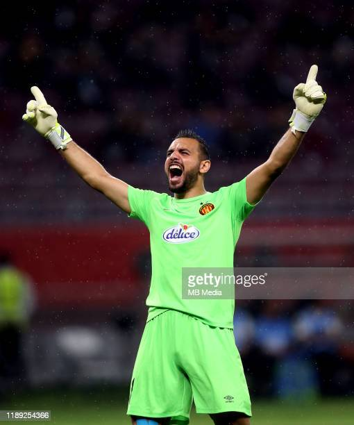 Moez BEN CHERIFIA of Esperance de Tunis celebrates during the Fifth Place Match between Al Sadd SC and Esperance de Tunis at Khalifa International...