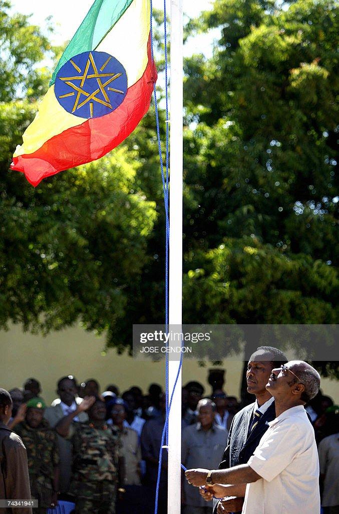 Ethiopian Foreign Minister Seyoum Desfin and Somali Prime