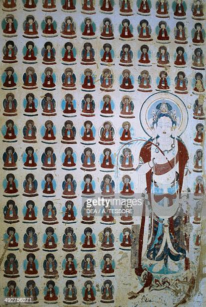 Mogao caves also known as the Caves of the Thousand Buddhas Dunhuang Gansu Province China Tang dynasty