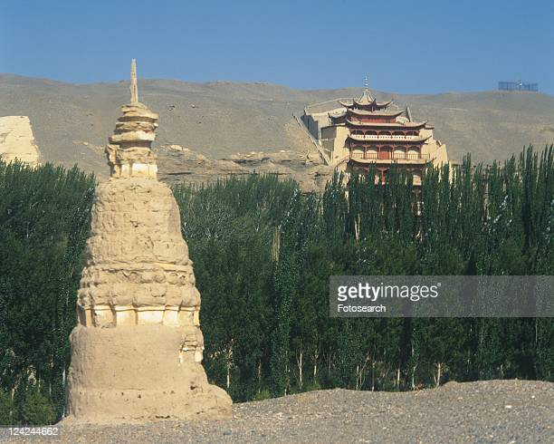 Mogao Caves, China, Asia, Low Angle View, Pan Focus